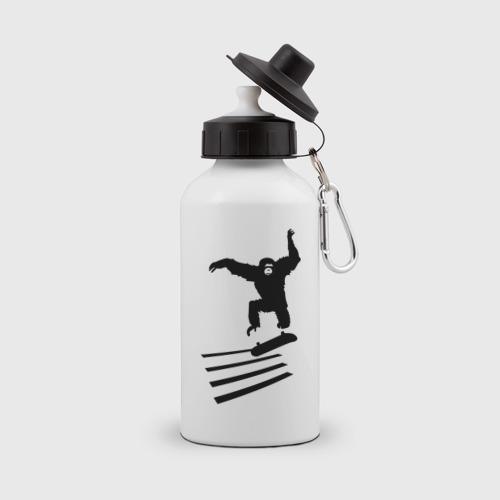Бутылка спортивная  Фото 01, Обезьянка на скейте