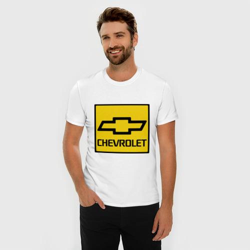 Мужская футболка премиум  Фото 03, logo chevrolet