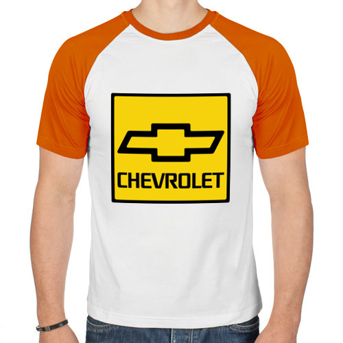 Мужская футболка реглан  Фото 01, logo chevrolet