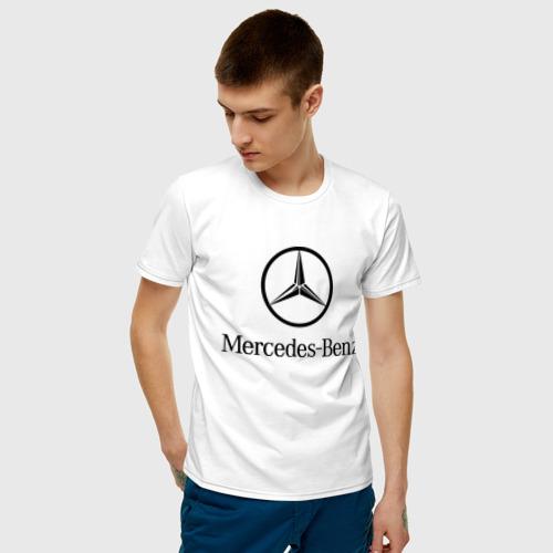 Мужская футболка хлопок Logo Mercedes-Benz Фото 01