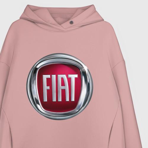 Женское худи Oversize хлопок FIAT logo Фото 01