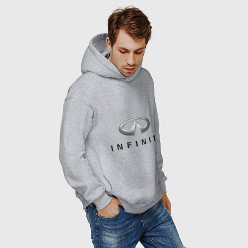 Мужское худи Oversize хлопок Logo Infiniti Фото 01