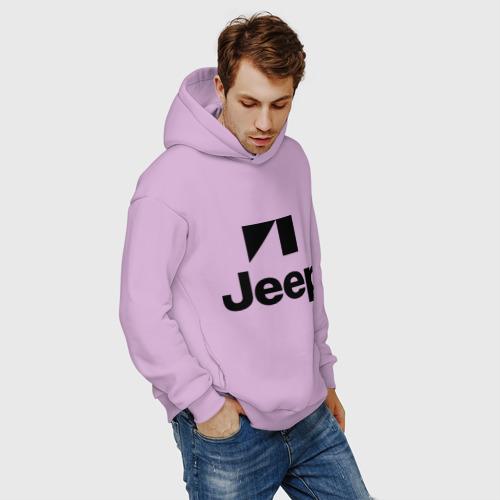 Мужское худи Oversize хлопок Jeep logo Фото 01