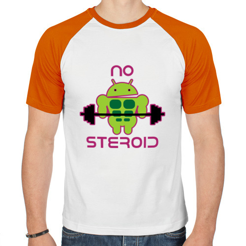 Мужская футболка реглан  Фото 01, No Steroid