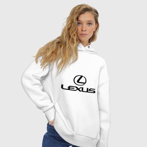 Женское худи Oversize хлопок Lexus logo Фото 01