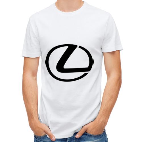 Мужская футболка полусинтетическая  Фото 01, Logo lexus