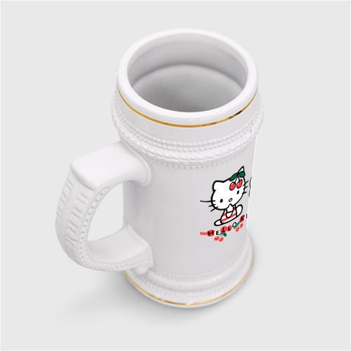 Кружка пивная  Фото 03, Вишенки Hello Kitty