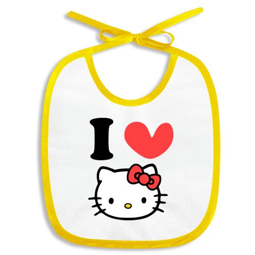 Слюнявчик I love Kitty