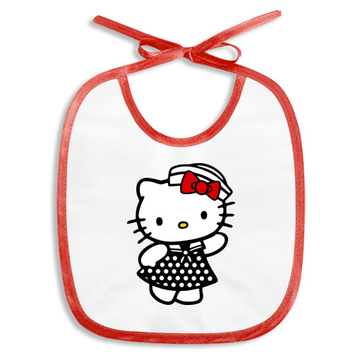 Слюнявчик Kitty  морячка