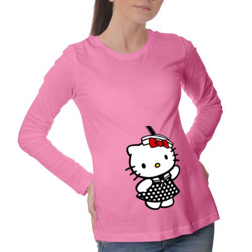 Лонгслив для беременных хлопок Kitty  морячка