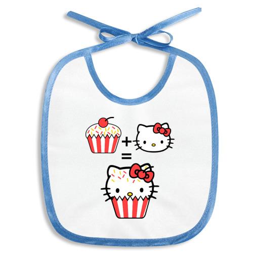 Слюнявчик Kitty - пирожное
