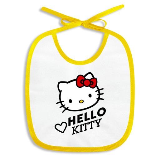 Слюнявчик Сердечко Hello Kitty