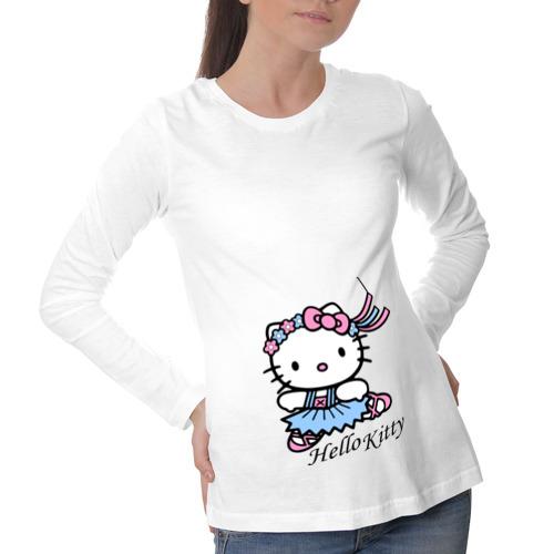 Лонгслив для беременных хлопок Kitty в пуантах