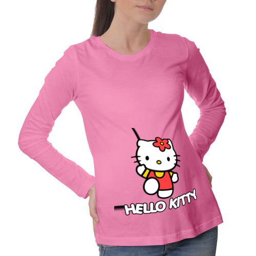 Лонгслив для беременных хлопок Hello Kitty с цветком