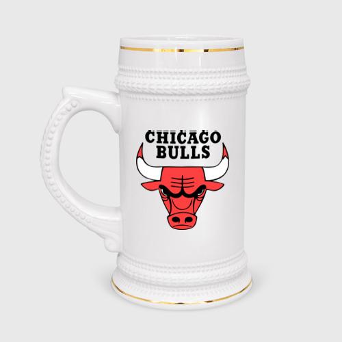 Кружка пивная пивная Chicago bulls logo