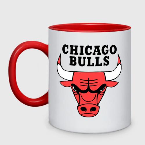 Кружка двухцветная Chicago bulls logo