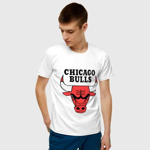 Мужская футболка хлопок Chicago bulls logo Фото 01