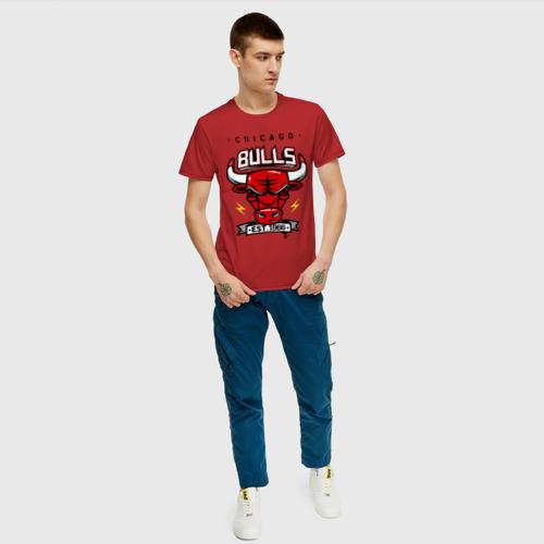 Мужская футболка хлопок Chicago bulls swag Фото 01