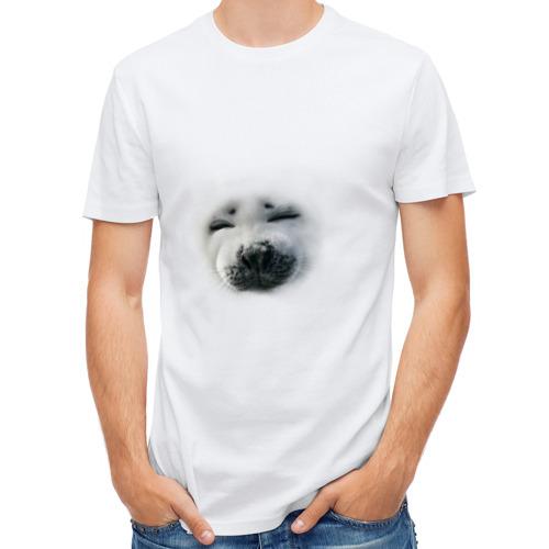 Мужская футболка полусинтетическая  Фото 01, Пушистый морской котик