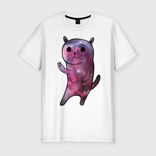 Мужская футболка премиум  Фото 01, Galaxy cat