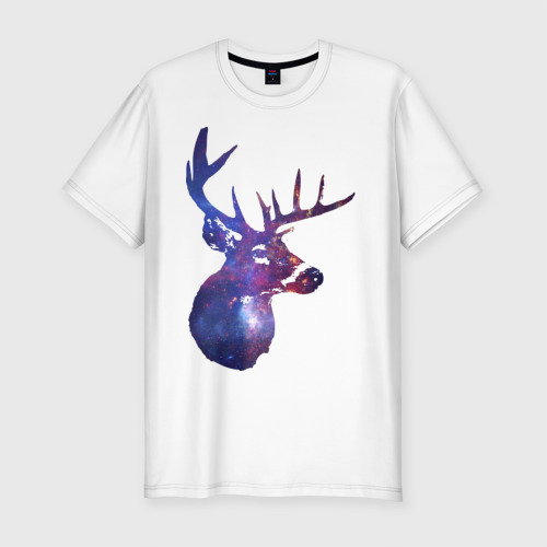 Мужская футболка премиум  Фото 01, Galaxy deer
