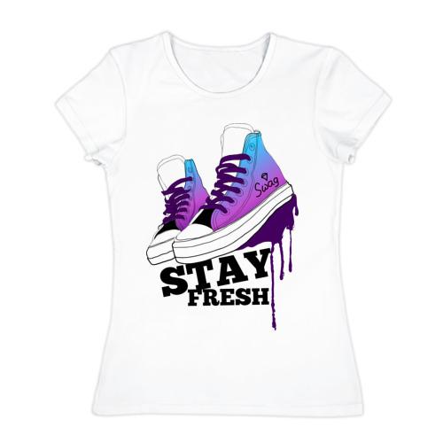 Женская футболка хлопок  Фото 01, Stay fresh