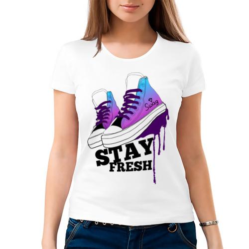 Женская футболка хлопок  Фото 03, Stay fresh