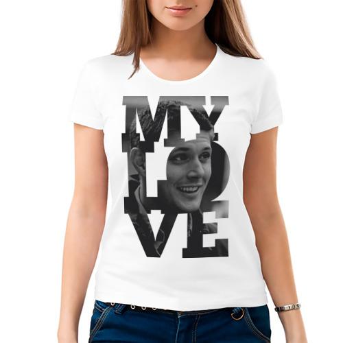 "Женская футболка ""Jensen my love"" - 1"