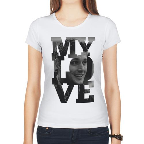 """Женская футболка синтетическая """"Jensen my love"""" - 1"""