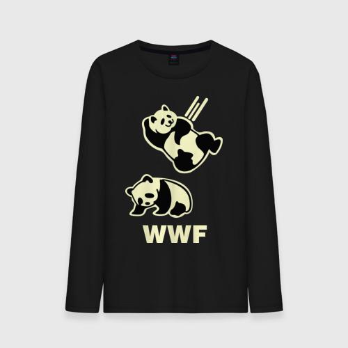 Мужской лонгслив хлопок  Фото 01, Панда WWF Wrestling Challenge (светящаяся)
