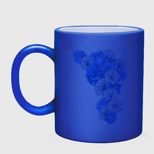 Кружка хамелеон  Фото 02, Blue flowers
