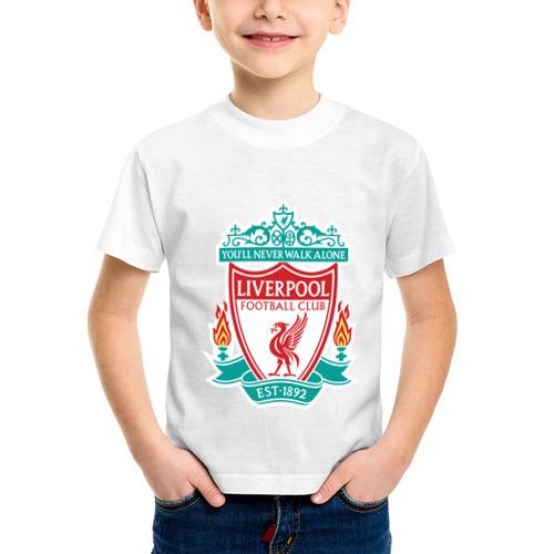 Детская футболка синтетическая Liverpool logo
