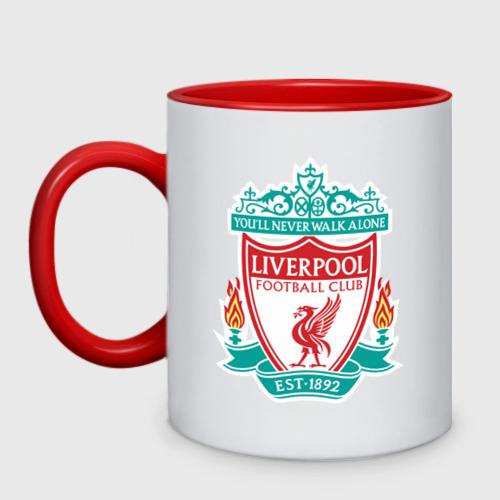Кружка двухцветная Liverpool logo