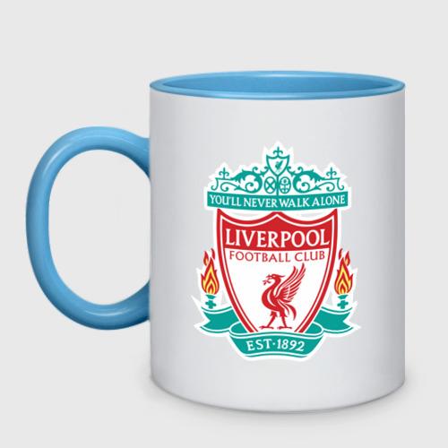 Кружка двухцветная Liverpool logo Фото 01