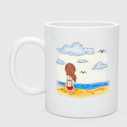 Кружка  Фото 01, Мама на пляже
