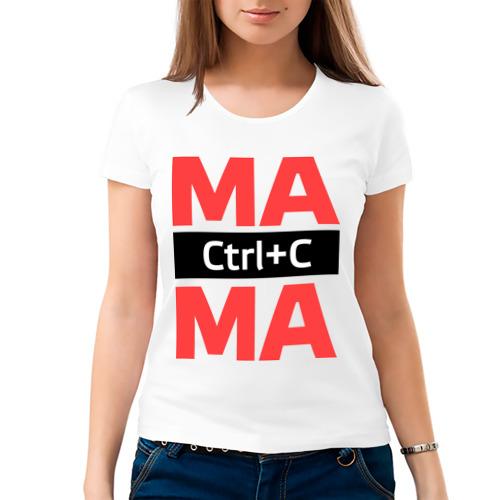 Женская футболка хлопок  Фото 03, Мама Ctrl+C
