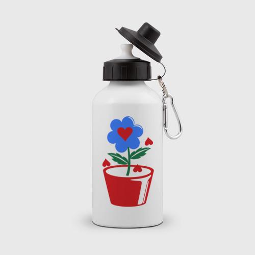 Бутылка спортивная  Фото 01, Цветочек любви