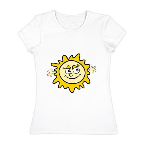 Женская футболка хлопок  Фото 01, Солнышко мама