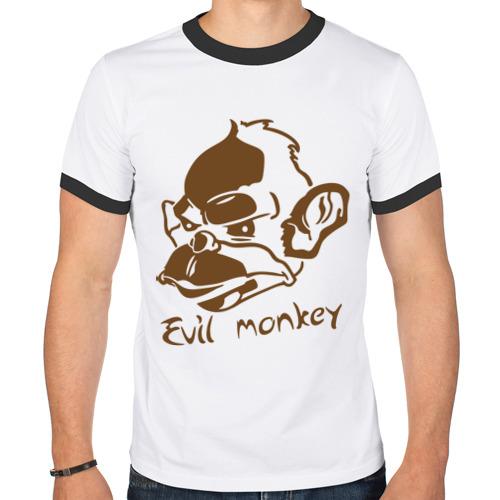 Мужская футболка рингер  Фото 01, Evil monkey (злая обезьяна)