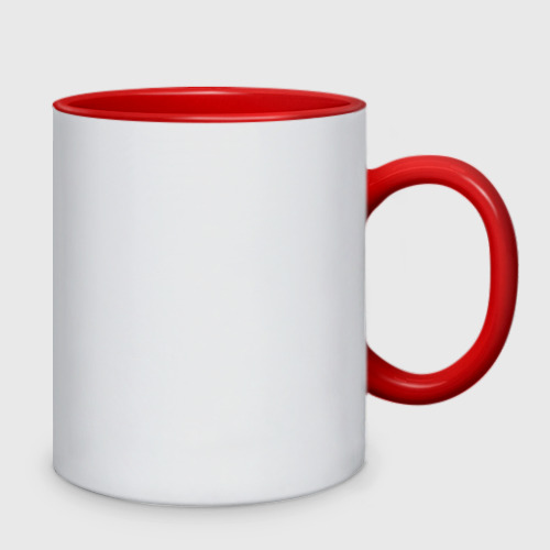 Кружка двухцветная  Фото 02, I love coffee (я люблю кофе)