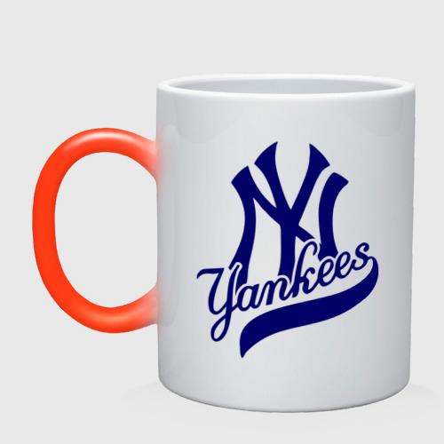 Кружка хамелеон NY - Yankees