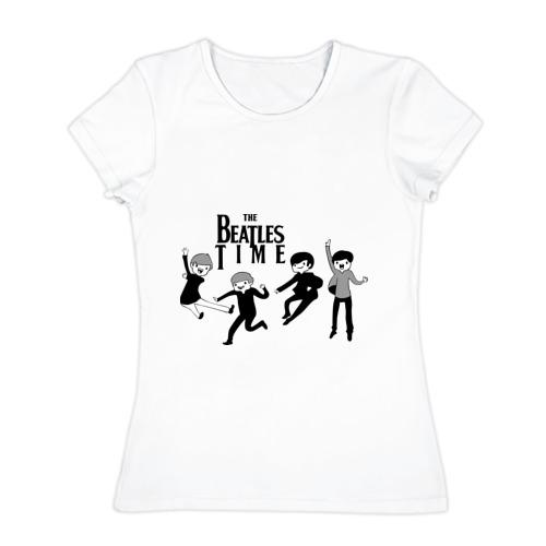 Женская футболка хлопок The Beatles time