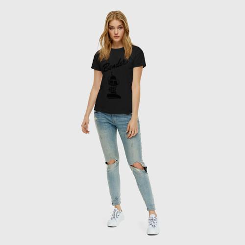 Женская футболка хлопок bender monochrome Фото 01