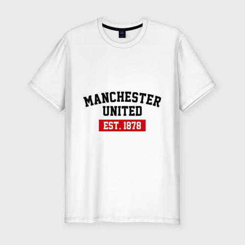Мужская футболка премиум FC Manchester United Est. 1878