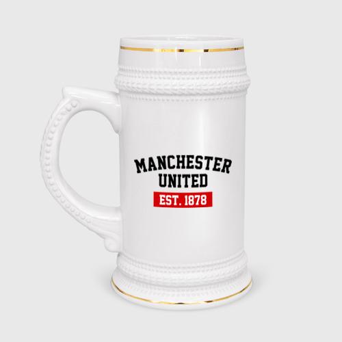 Кружка пивная FC Manchester United Est. 1878 Фото 01