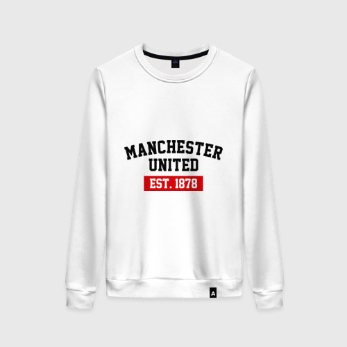 Женский свитшот хлопок FC Manchester United Est. 1878 Фото 01