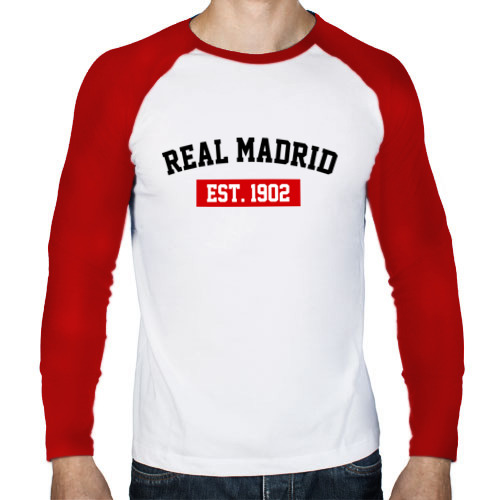 Мужской лонгслив реглан  Фото 01, FC Real Madrid Est. 1902