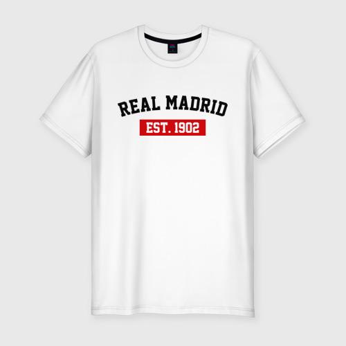 Мужская футболка премиум FC Real Madrid Est. 1902