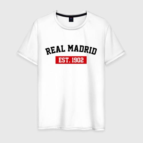 Мужская футболка хлопок FC Real Madrid Est. 1902