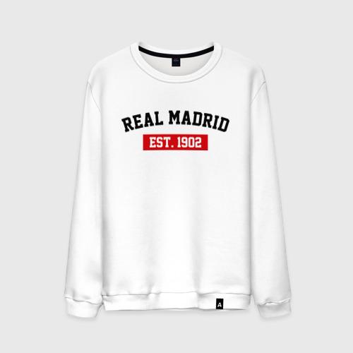 Мужской свитшот хлопок FC Real Madrid Est. 1902